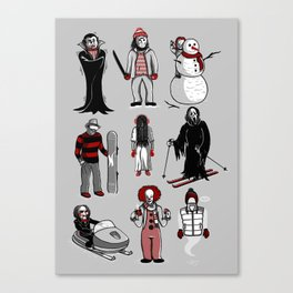 Horror lives winter Canvas Print