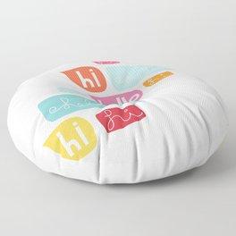 Hi Hello Floor Pillow