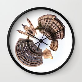 Holey planet with Basilica Wall Clock