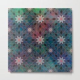 Water Lily Pattern Metal Print