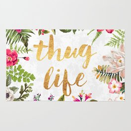 Thug Life - white version Rug