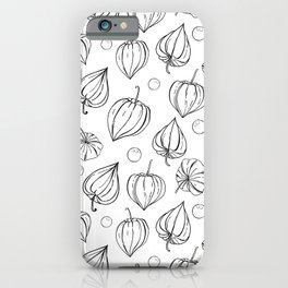 Physalis fruits pattern iPhone Case