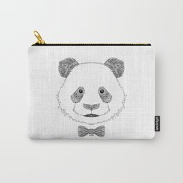 Panda head with bow Carry-All Pouch