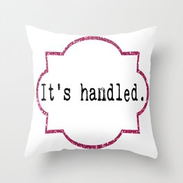 It's Handled - Television Pink Glitter Throw Pillow