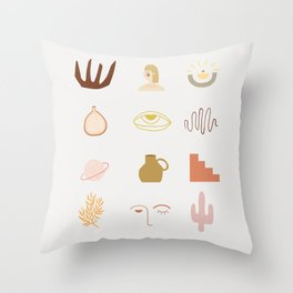 very important accessories #shapeart #digitalart Throw Pillow