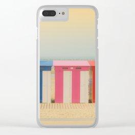 Beach cabins Malo Clear iPhone Case