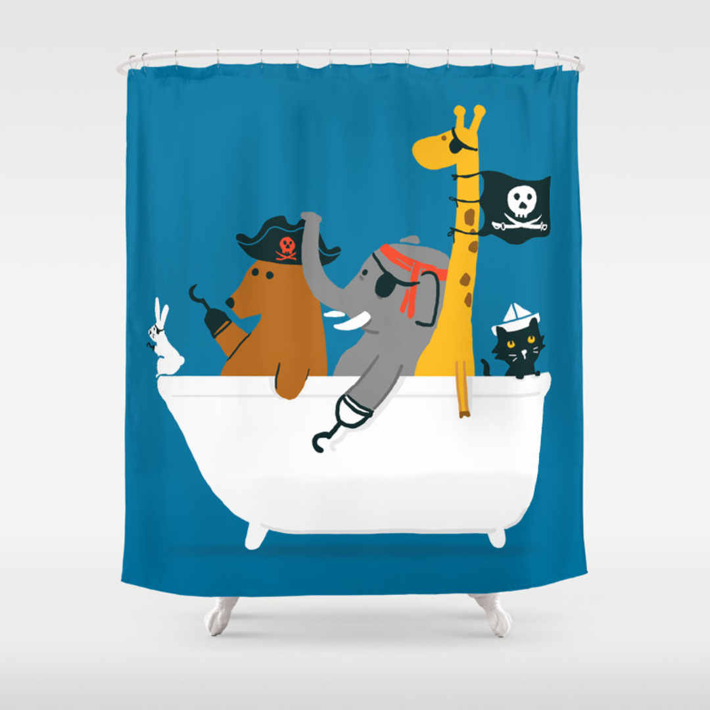 Pirate Shower Curtain -
