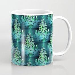 Blue/Green Yule Tree Coffee Mug