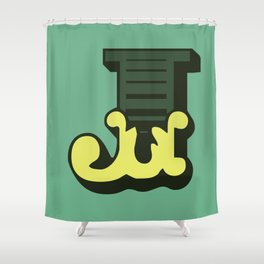 'The letter J' Design Motif Shower Curtain