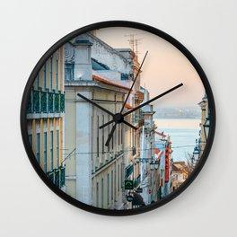 Lisbon at sunset Wall Clock