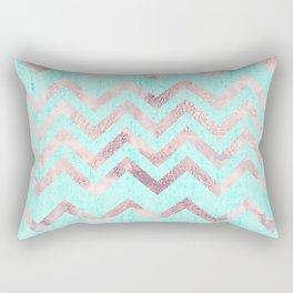 Turquoise blush pink purple geometrical chevron Rectangular Pillow
