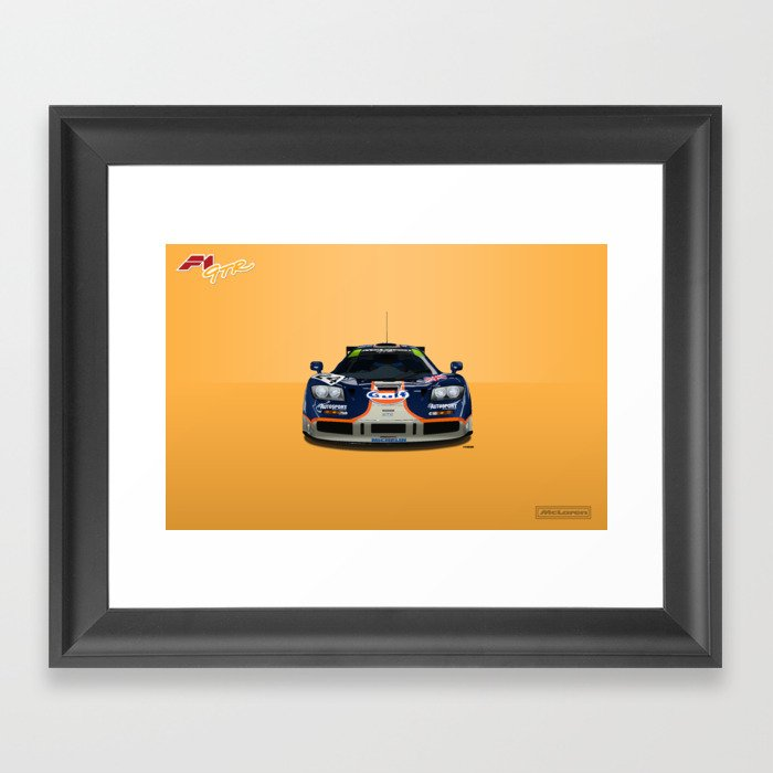 McLaren F1 GTR #02R - 1995 Le Mans 4th place - Front View Framed Art Print