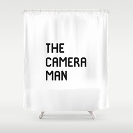 The Cameraman Filmmaking Movie Film School Shower Curtain