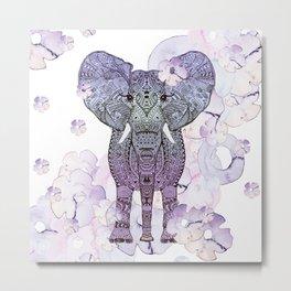 FLOWER SHOWER ELEPHANT Metal Print