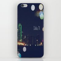 dallas iPhone & iPod Skins featuring Dallas, TX by missdolly