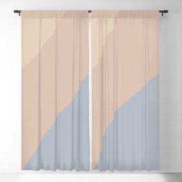 Neutral Blue Color Wave Blackout Curtain