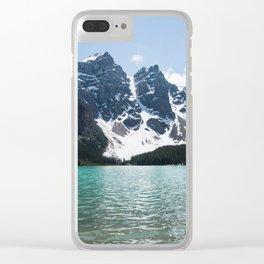 Landscape Lake Moraine Mountains Clear iPhone Case