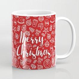 MERRY CHRISTMAS! - Red Pattern Coffee Mug