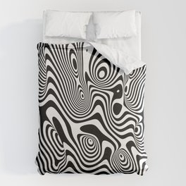 Trippy Background Duvet Cover