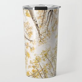 fall looking up Travel Mug