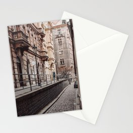 An alley up - Prague czech republic photo | Urban Urbanscape Street Color Cold Photography art print Stationery Cards