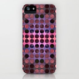 MELANGE of Purple-Coral-Rust no2a iPhone Case