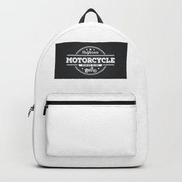 California Motorocylce Riders Club on Grey Backpack
