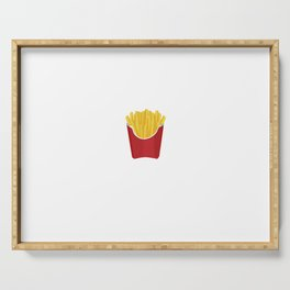 Exercise vs Extra Fries Serving Tray