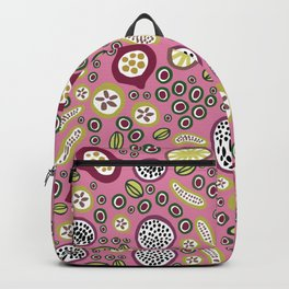abstract fruit-salad  pink Backpack