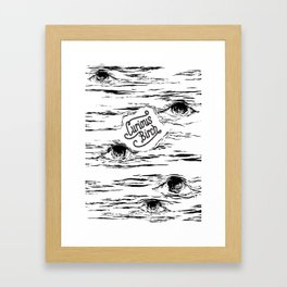 Curious Birch Framed Art Print