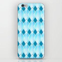 Glass-effect blue pattern iPhone Skin