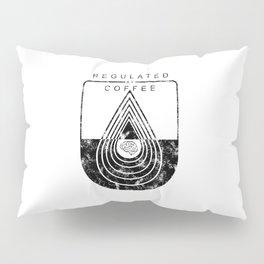 Caffeine on the Brain // Regulated by Coffee Espresso Drip Distressed Living Graphic Design Pillow Sham