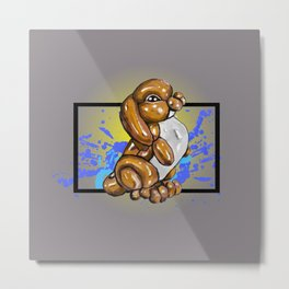 Brown Bunny- Wild World of Balloons Metal Print