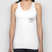 games Tank Tops featuring Drolimpic games by kiwiroom