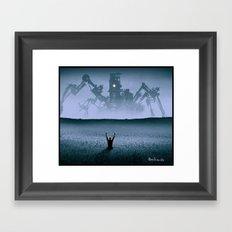 The attack Framed Art Print