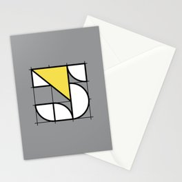 5 // Perfectionist Numbers (Pantone Ultimate Gray + Illuminating) Stationery Cards
