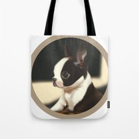 puppy Tote Bags featuring Puppy by EliseBrave