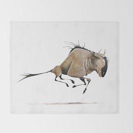 Wildebeest Throw Blanket
