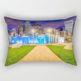charlotte nc skyline at romare bearden park Rectangular Pillow
