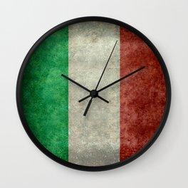 Italian flag, vintage retro style Wall Clock