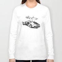 delorean Long Sleeve T-shirts featuring DELOREAN by carolin walch