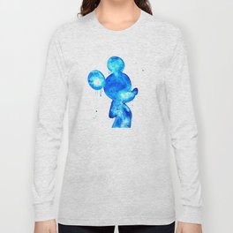 Blue Mouse Long Sleeve T-shirt