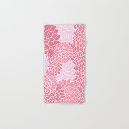Bubblegum Pink Dahlias Hand & Bath Towel