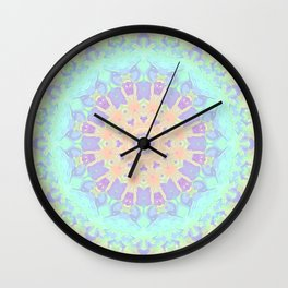 Rainbow Kaleidoscope Wall Clock