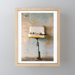 Rusted Sink Framed Mini Art Print