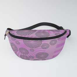 Space Spirals pink design Fanny Pack