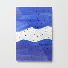 Bright blue Metal Print
