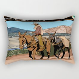 Vintage Poster - Old Spanish National Historic Trail (2018) Rectangular Pillow