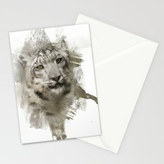 Expressions Snow Leopard Stationery Cards