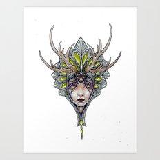 crowned girl Art Print